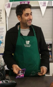 Smiling Sanjeev in Straiton Stores