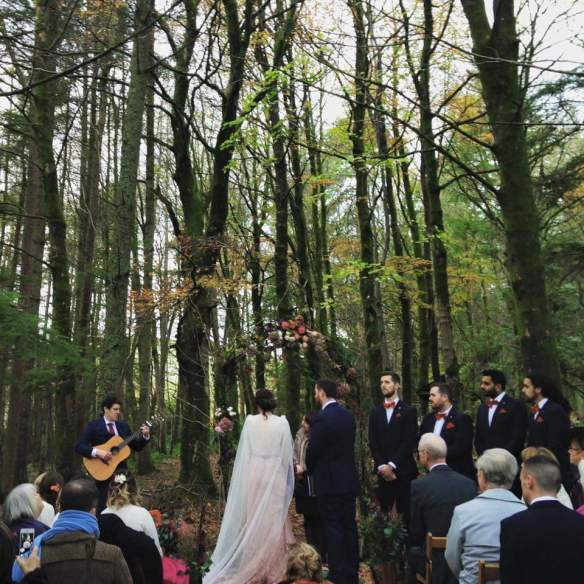 Wedding ceremony in Balbeg woods